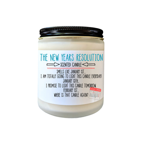New Years Resolution Gift Funny Gift Candle Gift 2020 New Year Gift Funny Candle Gift for Her Gift for Friend Holiday Gift Gag Gift