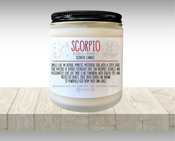 Scorpio Gift Zodiac Candle Zodiac Gifts Birthday Gift Birthday Candle Birthday Gift for Her Birthday gift for Friend Holiday Gift Under 20