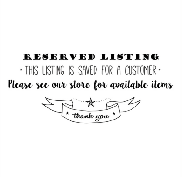 Reserved Listing-Custom candle order