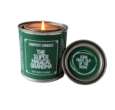 Grandma Gift Super Grandma Gift for Nana Paint Tin Candle Gift for Friend Stocking Stuffer Gift Holiday Candle Holiday Gift