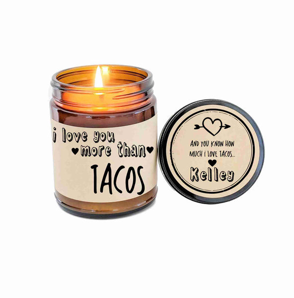 I Love You More Personalized Valentines Day Gift Valentines Day Card I Love You More Than Tacos