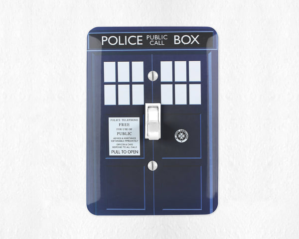 Tardis Switch Plate Cover Doctor Who Light Switch Wall Plate Cover Tardis Switchplate Game Room Decor Doctor Who Gift for Him Tardis Decor