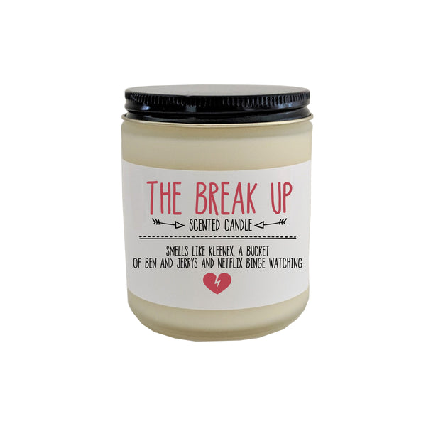 Break Up Gift Divorce Gift The Break Up Scented Candle Cheer Up Gift for Her Gift for Friend Breakup Gift Love Stinks Breaking up Succs
