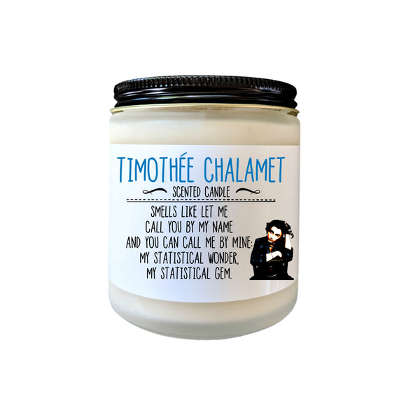 Timothee Chalamet Candle Tim Chalamet Candle Fan Gift Pop Culture Candle Celebrity Candle Candle Gift Celebrity Merch