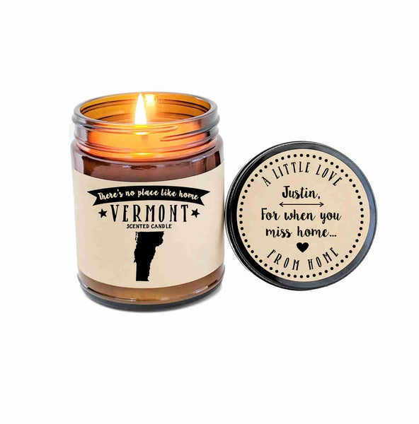 Vermont Candle State Scented Candle Missing Home No Place Like Home State Candle