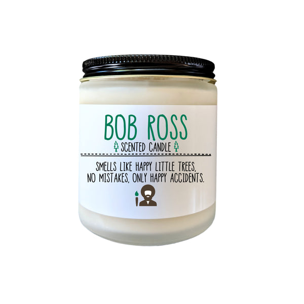 Bob Ross Scented Candle Bob Ross Gift Happy Little Trees No Mistakes Only Happy Accidents