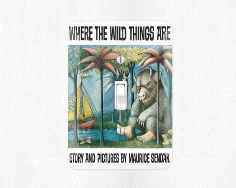 Where the Wild Things Are Light Switch Cover Light Switch Plate Wall Plate Bookish Nursery Decor Library Decor Room Decor Kids Room Decor