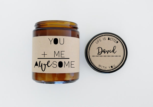 You and Me Awesome Boyfriend Gift Girlfriend Gift Holiday Gift Christmas Gift Valentine Gift