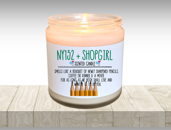 You've Got Mail Movie Gift AOL Online NY152 ShopGirl Candle Fandom Candle Bouquet of Sharpened Pencils I Wanted It to Be You