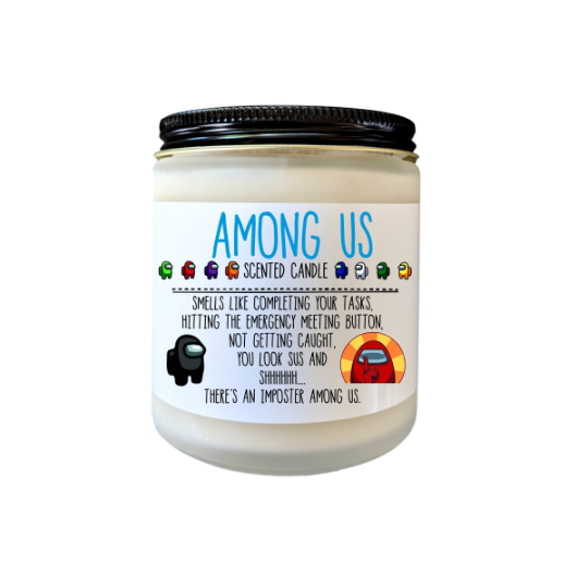 Among Us Gifts Scented Candle Imposters Crewmate Among Us Birthday Party Decor There is 1 Imposter Among Us Holiday Gift for Teens