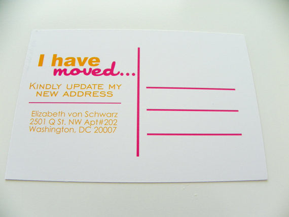Moving Announcement Postcard Change Of Address Postcards City Skyline Set of 48 Any City Available Address Change We Have Moved New Home