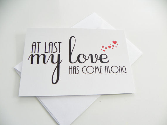 At Last My Love Has Come Along Love Card Romantic Card Song Lyrics Etta James Valentine Card