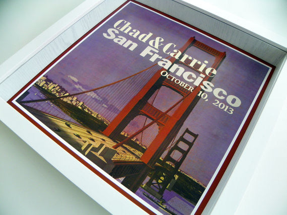 Vintage Travel Poster Wedding Gift Personalized Print Unique Wedding Gift Custom Wedding Gift