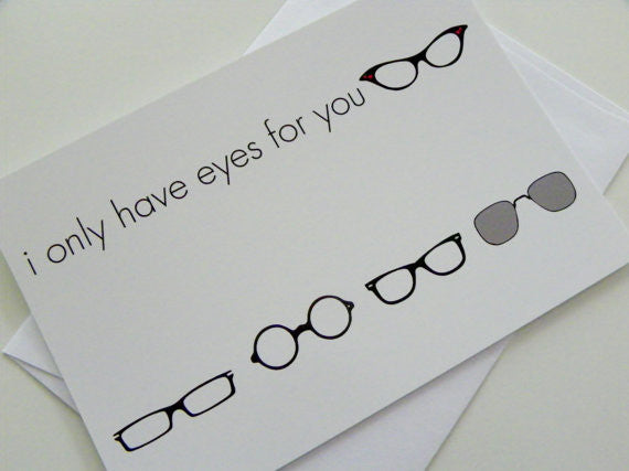 Love Card I Only Have Eyes For You Greeting Card Valentines Day Card Valentine Card