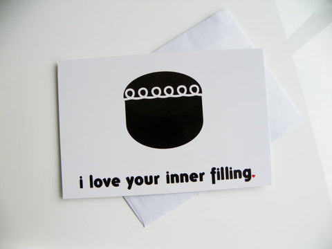 Cute Valentine Card I Love Your Inner Filling Hostess Cupcake Card Valentines Day