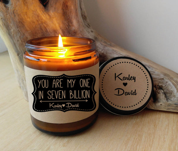 Gift for Boyfriend Gift For Girlfriend You Are My One in 7 Billion Romantic Gift for Him Her