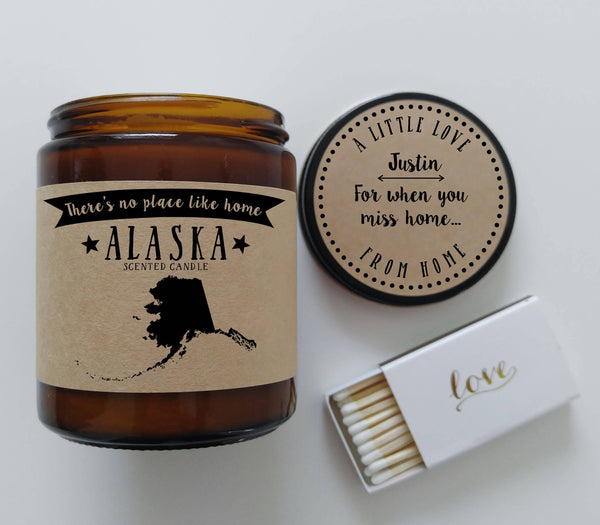 Alaska Candle State Scented Candle Missing Home No Place Like Home State Candle