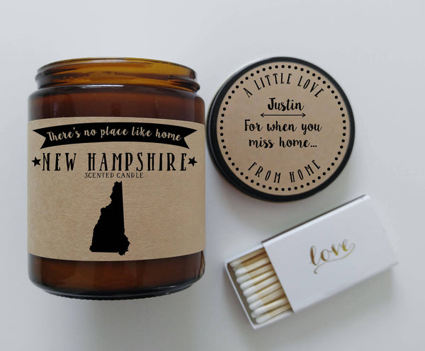 New Hampshire Scented Candle Missing Home Homesick Gift No Place Like Home State Candle