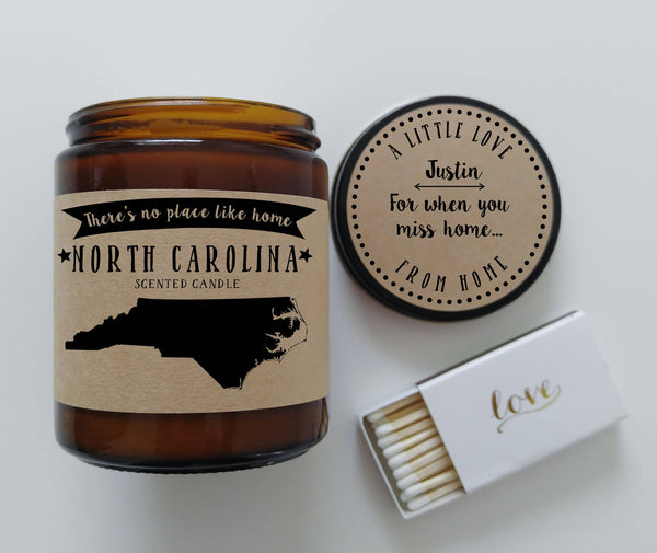 North Carolina Candle State Scented Candle Missing Home No Place Like Home State Candle