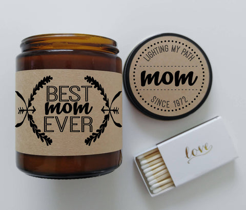 Best Mom Ever Candle Gift For Mother Soy Candle Personalized Candle Custom Gift For Mom