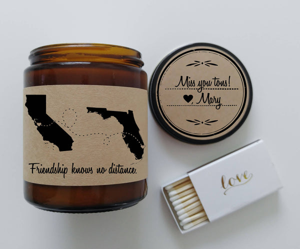 bff gift long distance friendship best friend gift soy candle gift