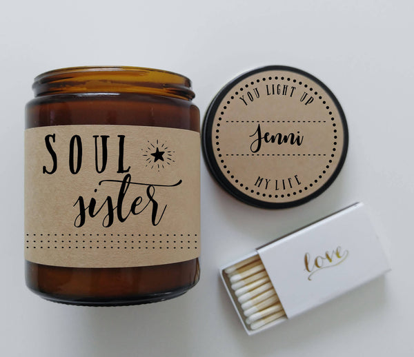 Soul Sisters Gift Soy Candle Gift for BFF Friend Gift Birthday Gift Christmas Gift Best Friend Gift