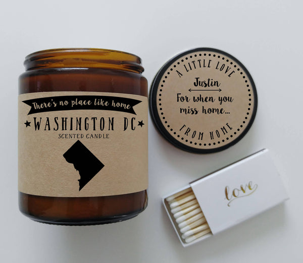 Washington DC Scented Candle Missing Home Homesick Gift No Place Like Home State Candle Miss You
