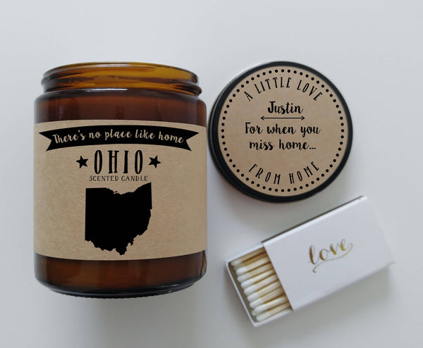 Ohio Scented Candle Missing Home Homesick Gift New Home Gift No Place Like Home State Candle