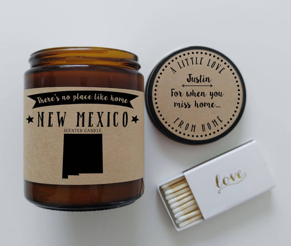 New Mexico Candle State Scented Candle Missing Home Moving Gift No Place Like Home State Candle