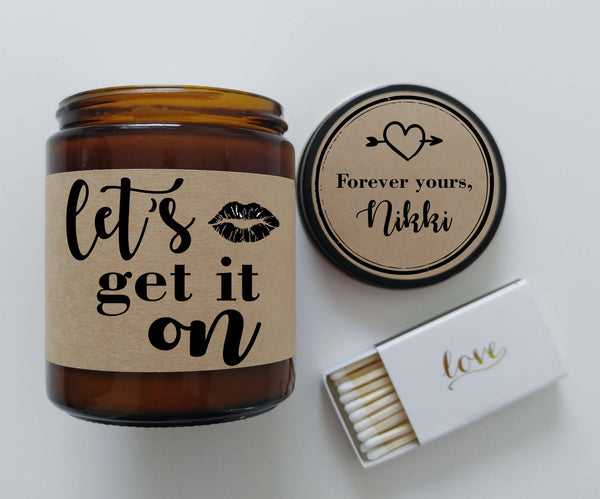 Valentine Gift for Boyfriend Lets Get It On Candle Gift for Husband Valentines Day Gift Adult Love