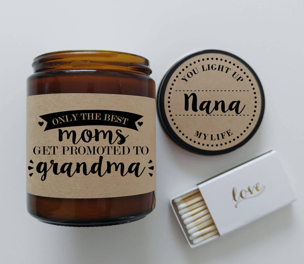Grandma Gift Promoted to Grandma Personalized Candle Mothers Day Gift for Grandma Gift for Nana