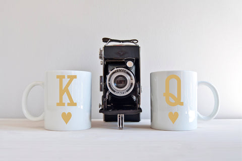 King and Queen Mug Set Couples Mugs Gift for Newlyweds Gift for Couple His and Hers Mugs