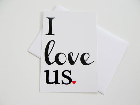 Romantic Card I Love Us Card Valentine Card Greeting Card Valentines Day Card Romantic Card