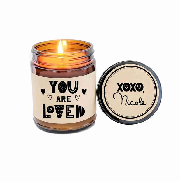 You are Loved Gift for Her Gift for Him Scented Soy Candle Long Distance Gift