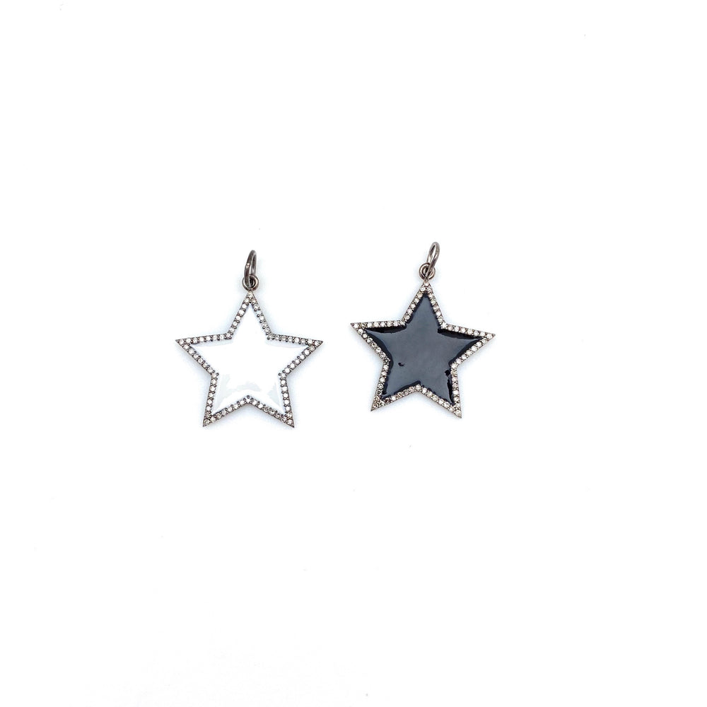 Enamel Star Pendants