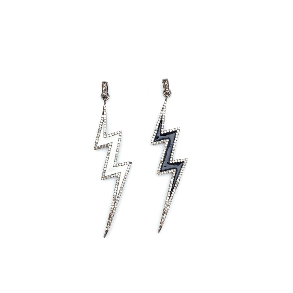 Enamel Lightning Bolt Pendants