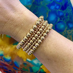 14k Gold Filled Beaded Bracelet