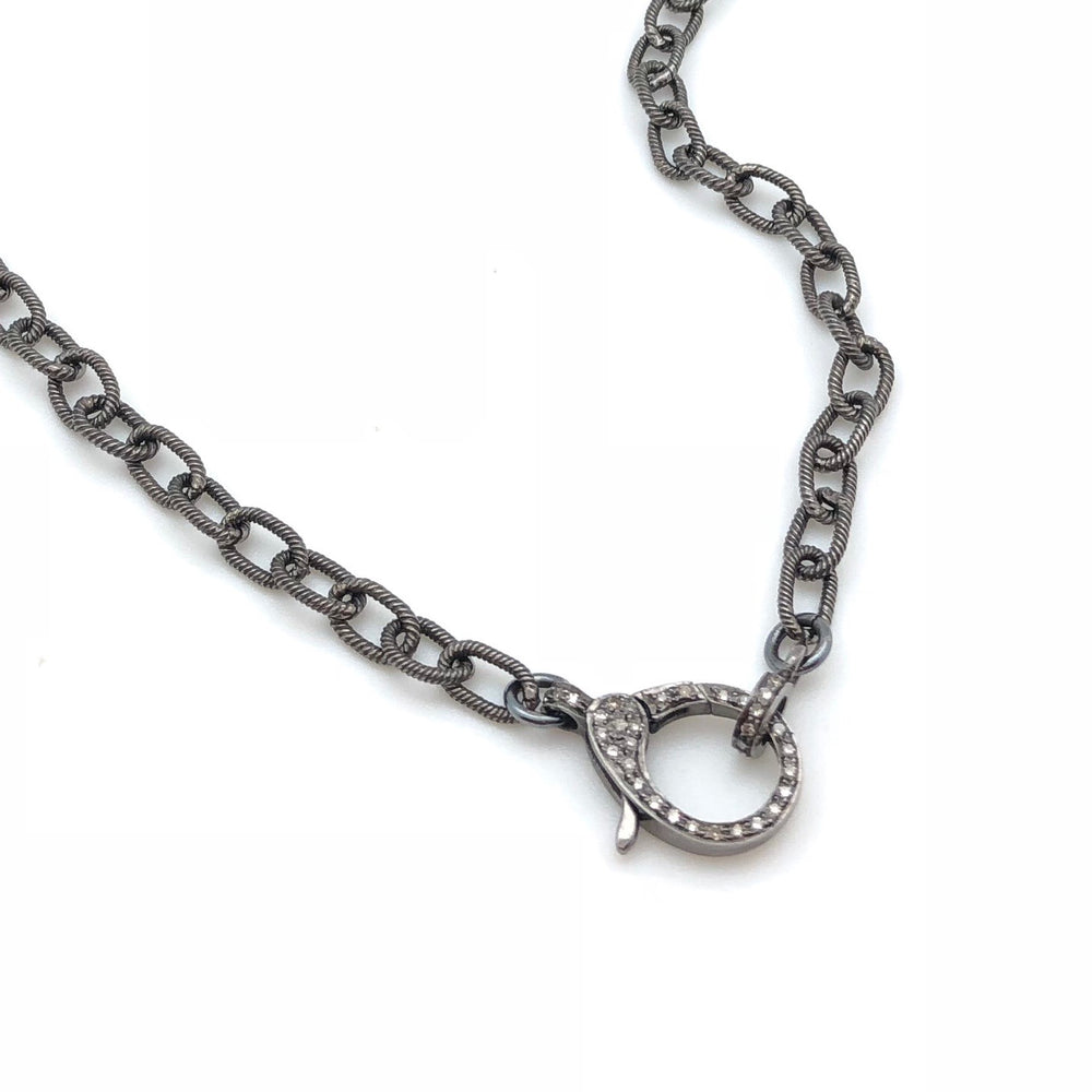 "Oxidized Cable Chain (17"")"