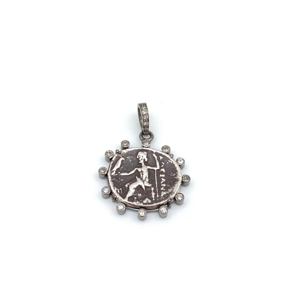 Antique Silver Coin Pendant