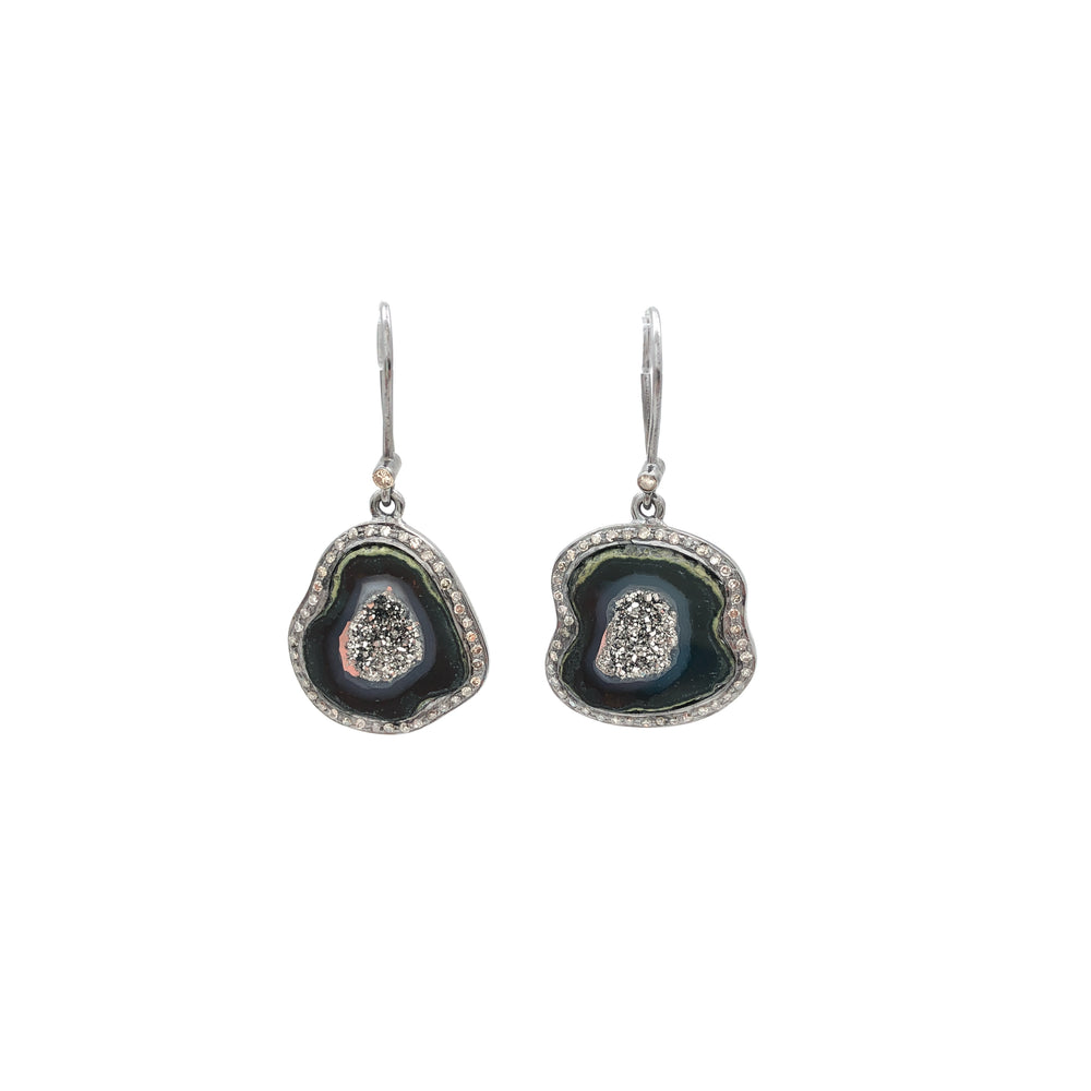 Geode Drop Earrings
