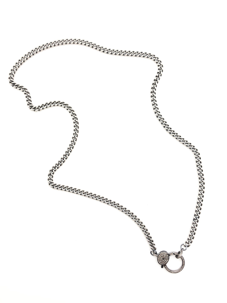Oxidized Heavy Gauge Sterling Silver Curb Chain