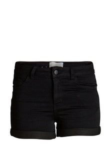 Shorts slim fit m strech, sort - FondOfFashion.dk