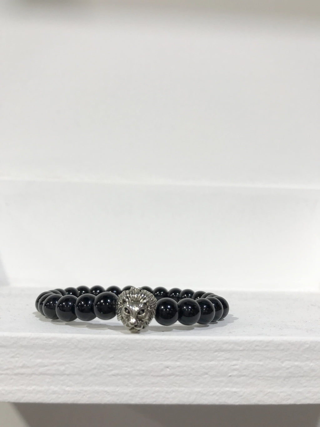 LION COLLEXION Mens Bracelet - Onyx