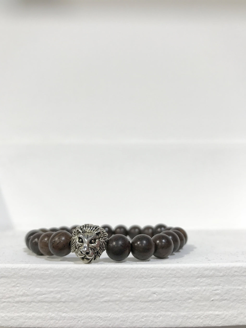 LION COLLEXION Mens Bracelet - Dark Wood