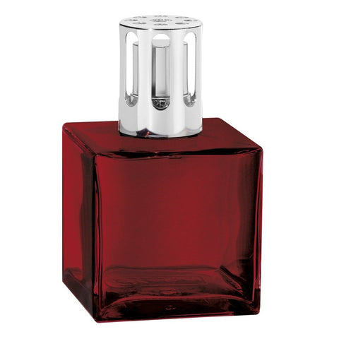 Cube Glass Lampe Berger Lamp - Red