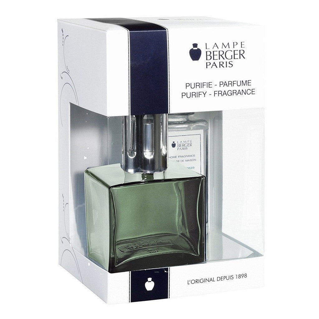 Cube Glass Lampe Berger Gift Set - Green