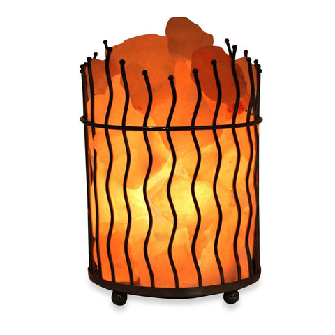 Himalayan Salt Lamp Pillar Basket 8 Lbs