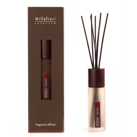 Millefiori Milano Selected Reed Fragrance Oil Diffuser, Amber Delice 100 ml