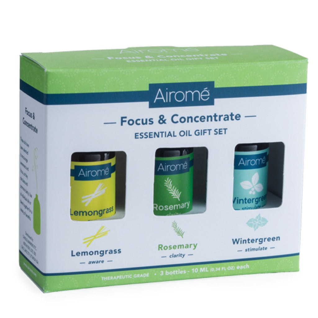Airome Focus & Concentrate Essential Oil Gift Set