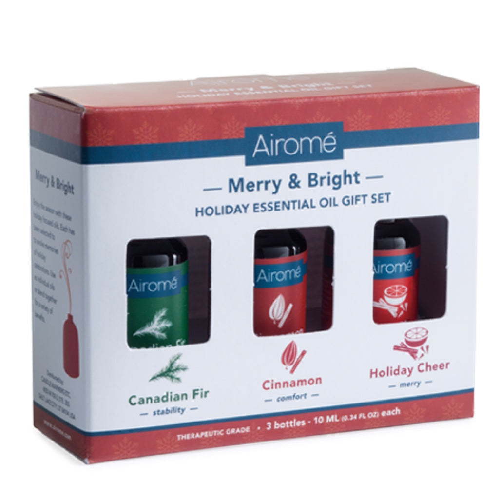 Airome Merry & Bright Holiday Essential Oil Gift Set